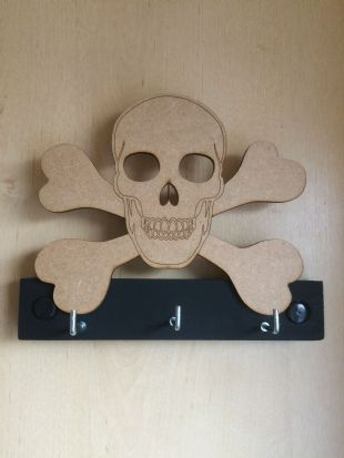 Skull on Cross Bone Key Rack